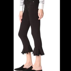 McGuire jeans Crop Ruffle Kick Flare Cropped Jeans